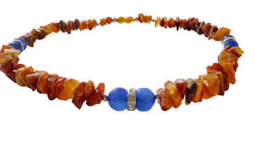 Amber necklace agate 44cm