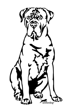 Cane Corso wall decal