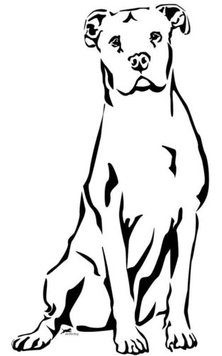 Dogo Argentino wall decal