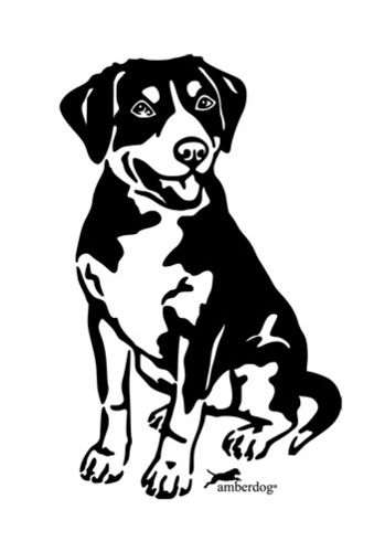 Entlebuch mountain dog wall decal
