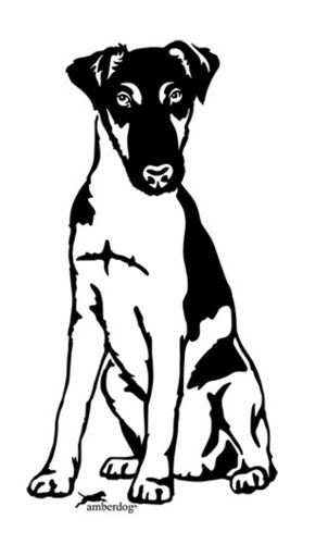 Fox terrier smooth hair wall decal