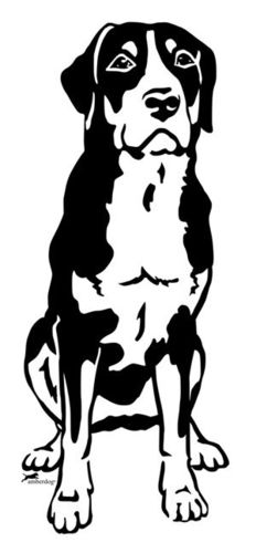 Big Swiss Mountain Dog wall decal