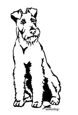Irish Terrier Wandtattoo