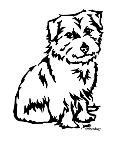 Norfolk Terrier Wandtattoo