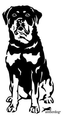 Rottweiler wall decal