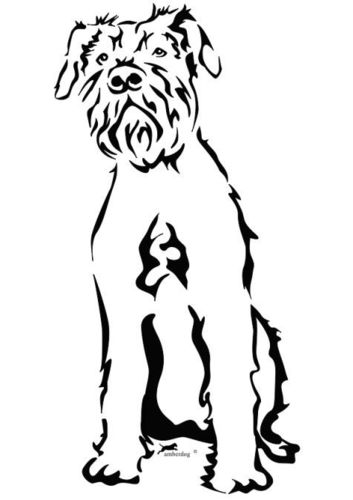giant schnauzer wall decal