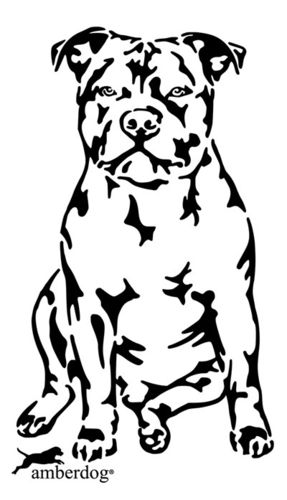 Staffordshire Bullterrier wall decal