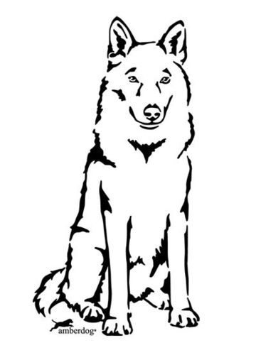 Czechoslovakian wolfhound wall decal