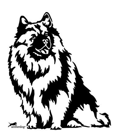 Wolfspitz wall decal