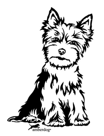 Yorkshire Terrier Wall Decal