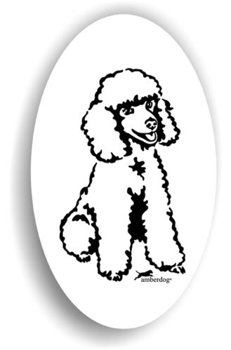 Zwergpudel Sticker