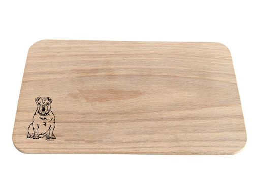 English bulldog breakfast board