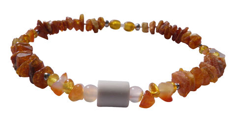 Amber necklace EM-Kera Carneol 30cm