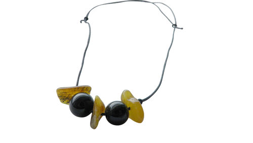 Amber necklace trio