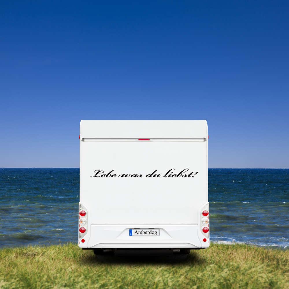 Aufkleber Wohnwagen Wohnmobil Caravan Camper Auto Spruch Lebe Was