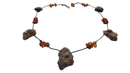 Amber necklace, natural